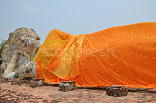 Temple buddha monde pierre prier asian Photo stock © tang90246