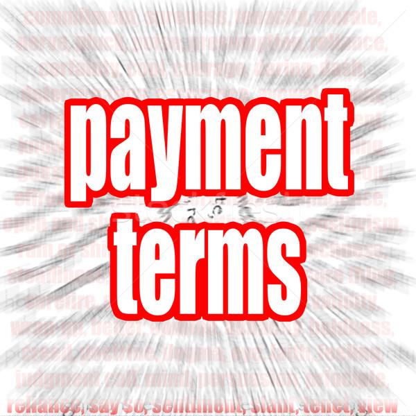 Payment terms word cloud Stock photo © tang90246
