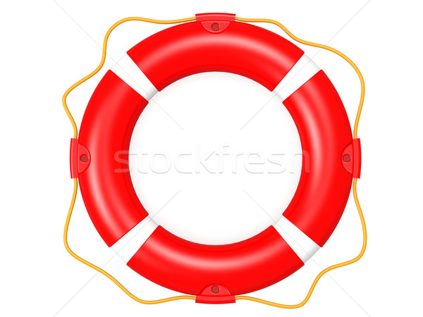 Bóia salva-vidas vermelho assinar navio ajudar anel Foto stock © tang90246