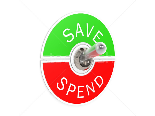 Save spend toggle switch Stock photo © tang90246