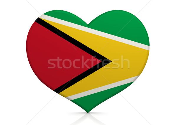 Guyana szív háttér utazás vidék ötlet Stock fotó © tang90246