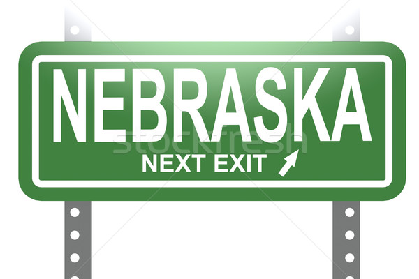Nebraska verde assinar conselho isolado imagem Foto stock © tang90246