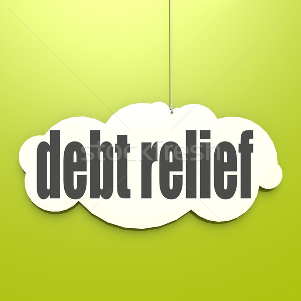 White cloud with debt relief Stock photo © tang90246