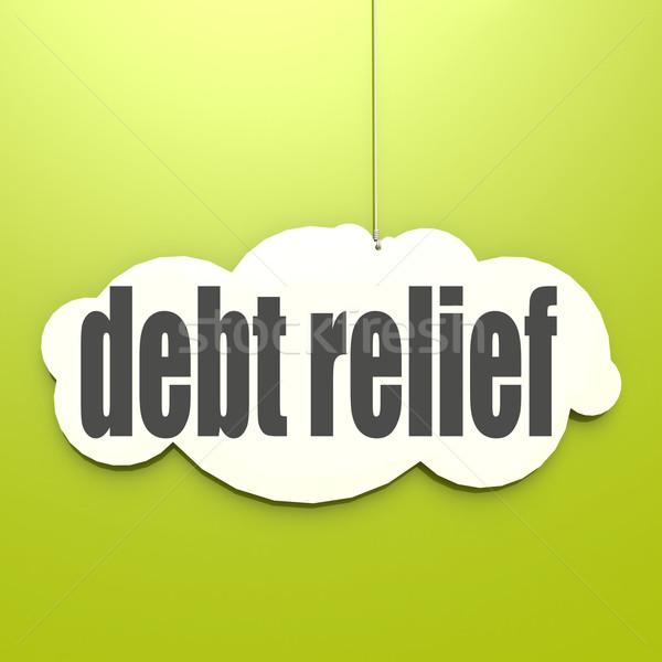 Bianco nube debito sollievo immagine reso Foto d'archivio © tang90246