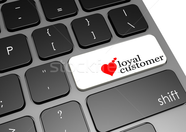 Leal cliente preto teclado imagem prestados Foto stock © tang90246