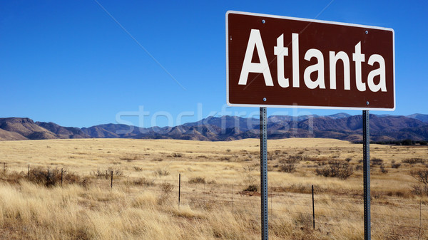 Atlanta verkeersbord blauwe hemel wildernis teken post Stockfoto © tang90246