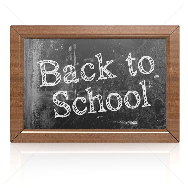 Powrót do szkoły słowo tablicy 3D dzieci Zdjęcia stock © tang90246