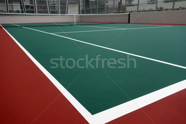 Court de tennis une angle sport fitness santé Photo stock © tang90246