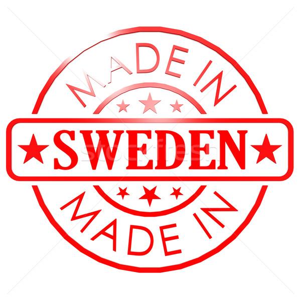 Szwecja czerwony pieczęć działalności papieru projektu Zdjęcia stock © tang90246