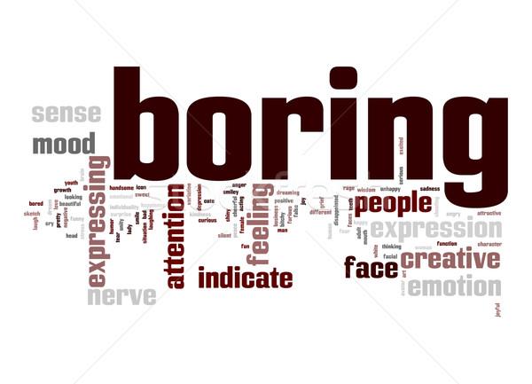 Boring word cloud Stock photo © tang90246