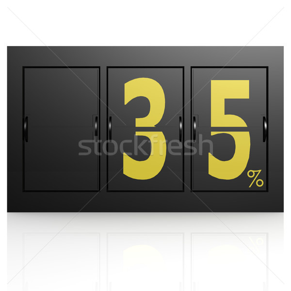 Airport display board 35 percent Stock photo © tang90246