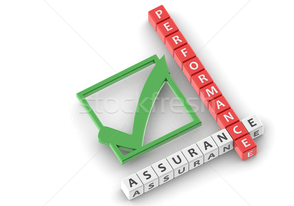 Buzzwords performance assurance Stock photo © tang90246