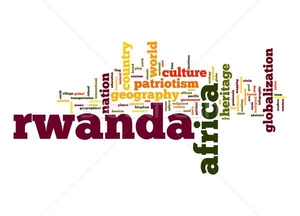 Rwanda nuage de mots affaires monde Afrique nuage Photo stock © tang90246