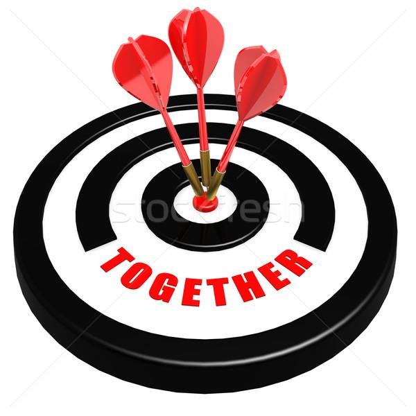 вместе дартс совета работу красный связи Сток-фото © tang90246