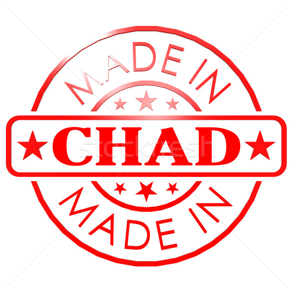 Chad rojo sello imagen prestados Foto stock © tang90246