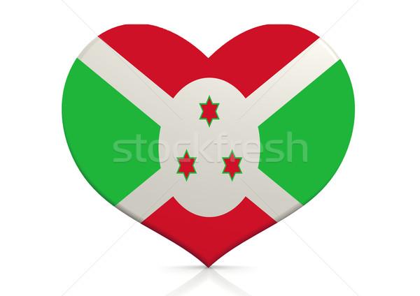 Burundi coração fundo viajar país conceito Foto stock © tang90246