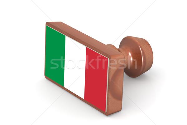 Bois tampon Italie pavillon image rendu Photo stock © tang90246