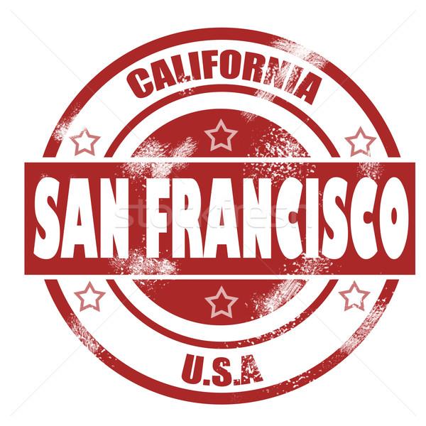 San Francisco stempel afbeelding gerenderd gebruikt Stockfoto © tang90246