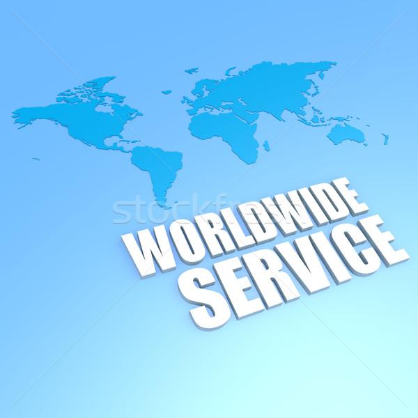 Worldwide service world map Stock photo © tang90246