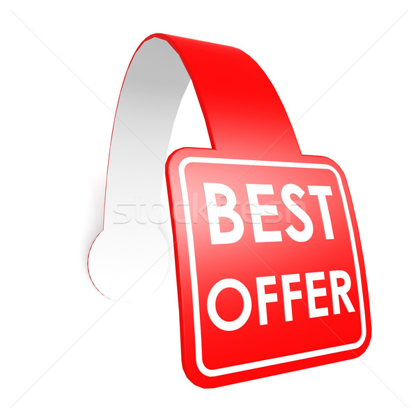 Best offer hang label Stock photo © tang90246