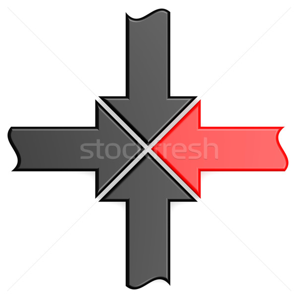 Red arrow join Stock photo © tang90246