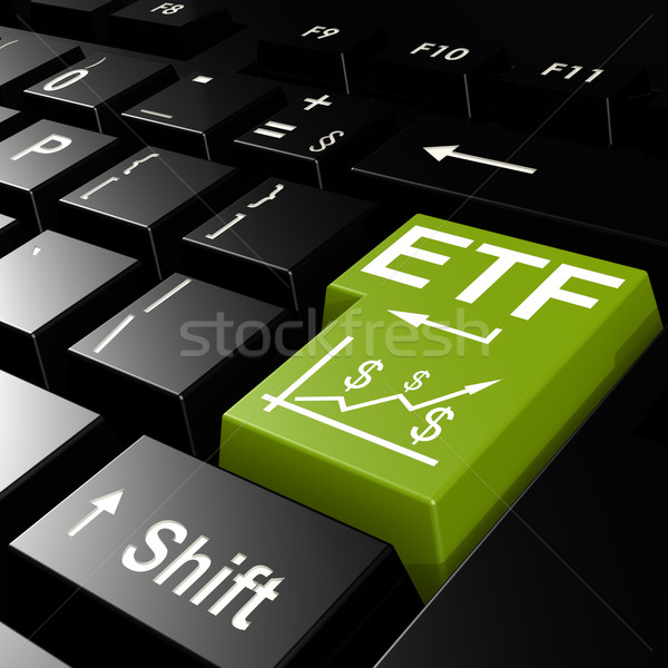 ETF word on the green enter keyboard Stock photo © tang90246