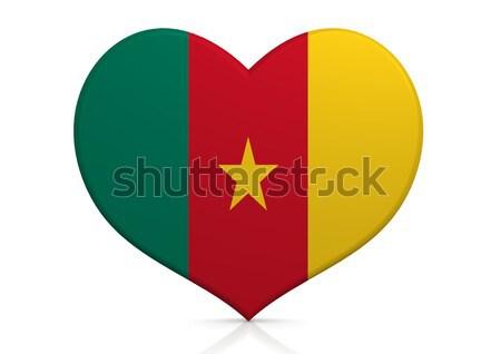 Камерун сердце фон путешествия стране концепция Сток-фото © tang90246