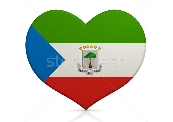 Equatoriaal-Guinea hart achtergrond reizen land concept Stockfoto © tang90246