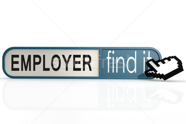 Employer word on the blue find it banner Stock photo © tang90246