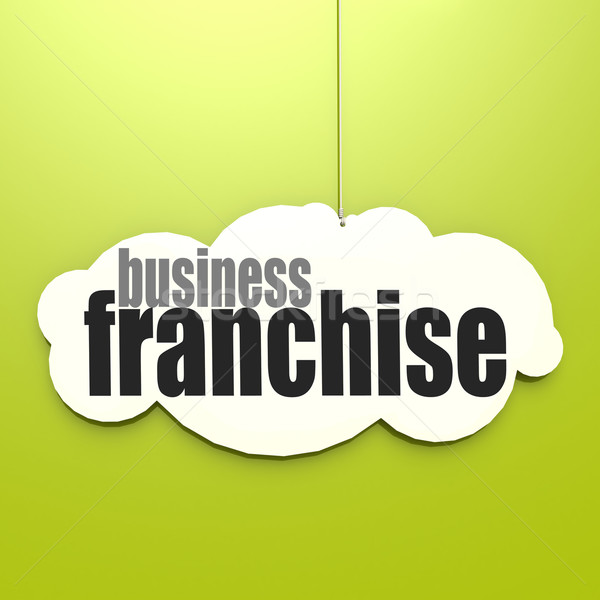 Stock photo: White cloud with franchise business