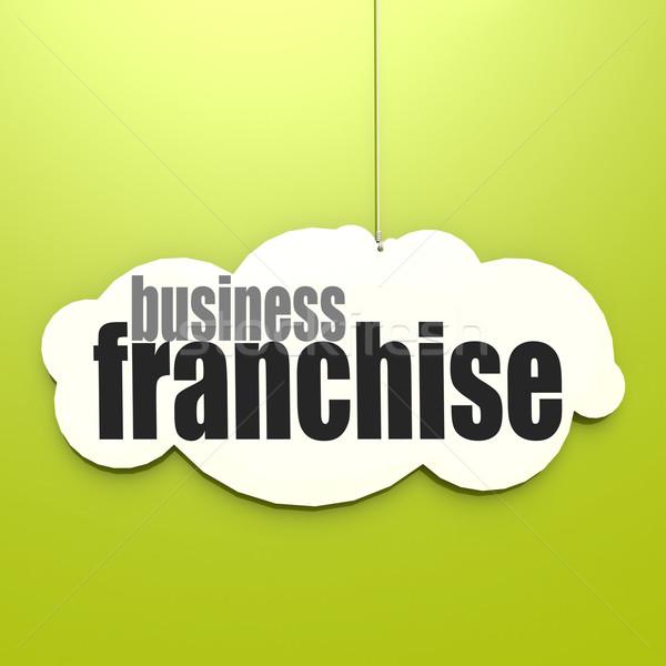 белый облаке бизнеса изображение оказанный Сток-фото © tang90246