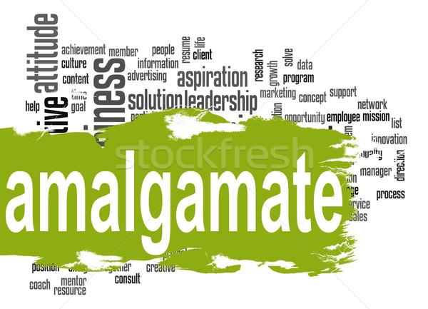 Nuage de mots vert bannière image rendu Photo stock © tang90246
