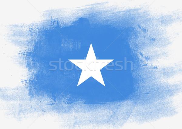 Pavillon Somalie peint brosse solide résumé Photo stock © tang90246