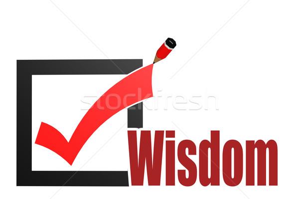 Verificar sabedoria palavra imagem prestados Foto stock © tang90246