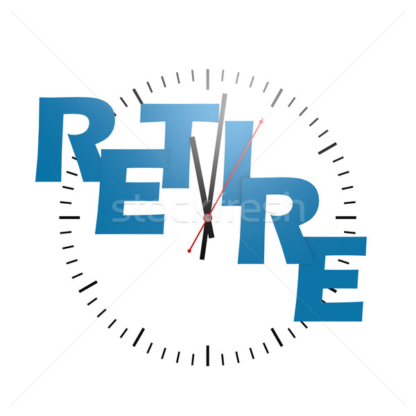 Retire word with clock Stock photo © tang90246