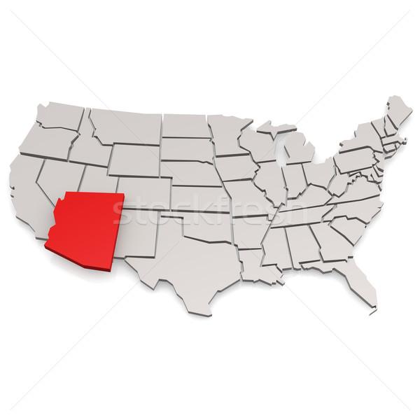 Arizona térkép utazás USA keret turizmus Stock fotó © tang90246