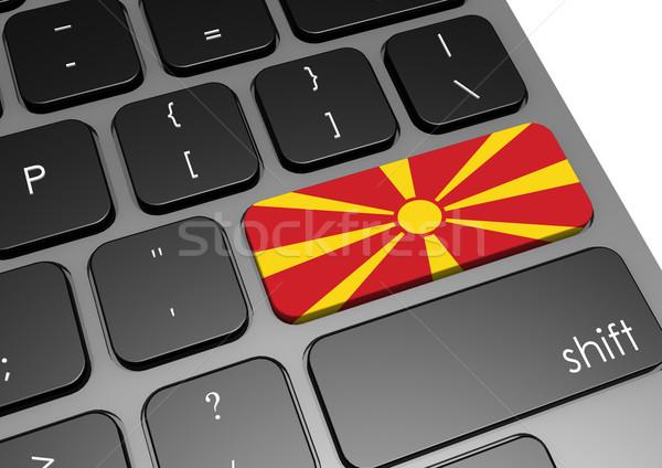 Macedónia teclado imagem prestados usado Foto stock © tang90246