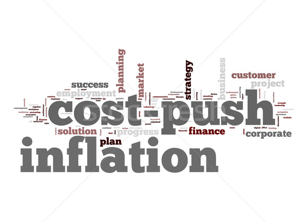Cost-push inflation word cloud Stock photo © tang90246