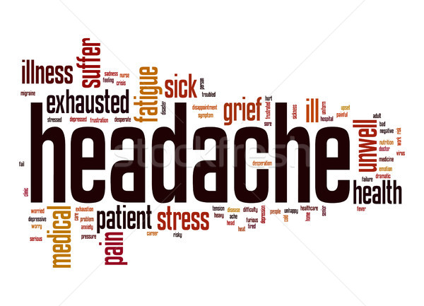 Headache word cloud Stock photo © tang90246
