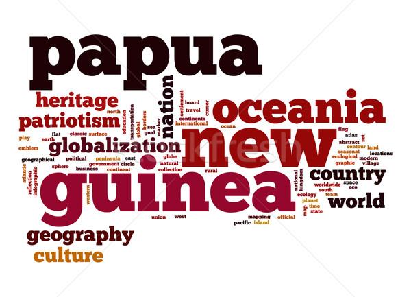 Papua New Guinea word cloud Stock photo © tang90246