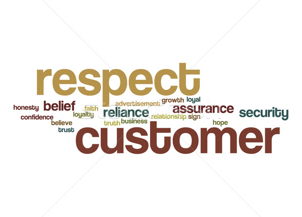 Respect customer word cloud Stock photo © tang90246
