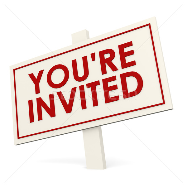 You re invited white banner Stock photo © tang90246