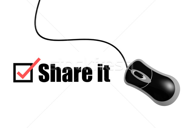Share it with mouse Stock photo © tang90246