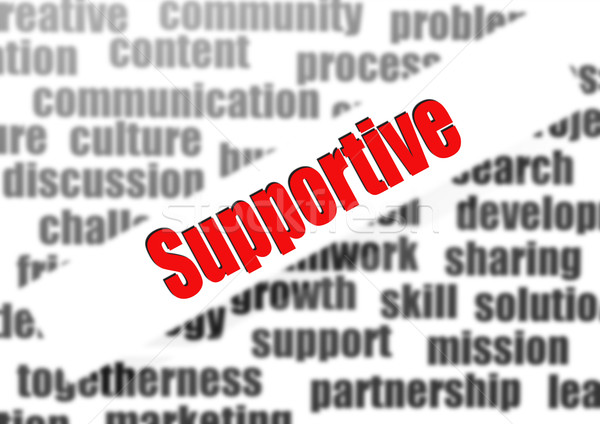 Támogató szófelhő üzlet munka szolgáltatás támogatás Stock fotó © tang90246