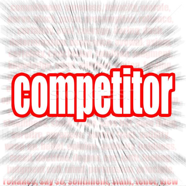 Concorrente word cloud immagine reso usato Foto d'archivio © tang90246