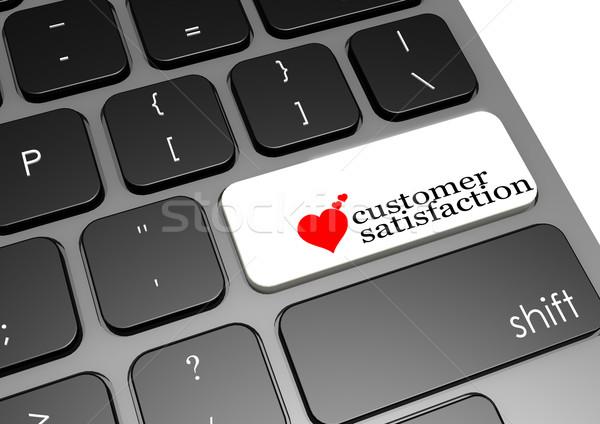 Satisfacción del cliente negro teclado imagen prestados Foto stock © tang90246