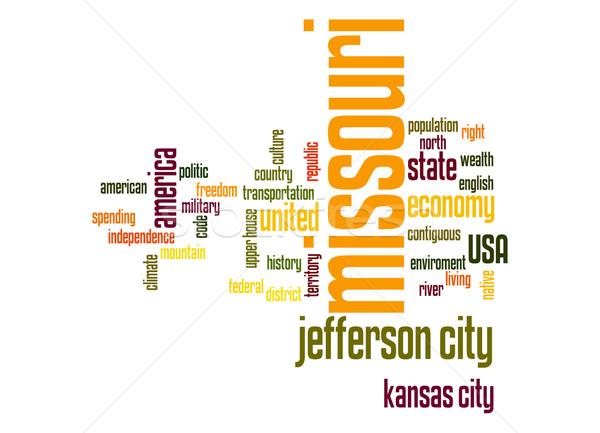 Missouri word cloud Stock photo © tang90246