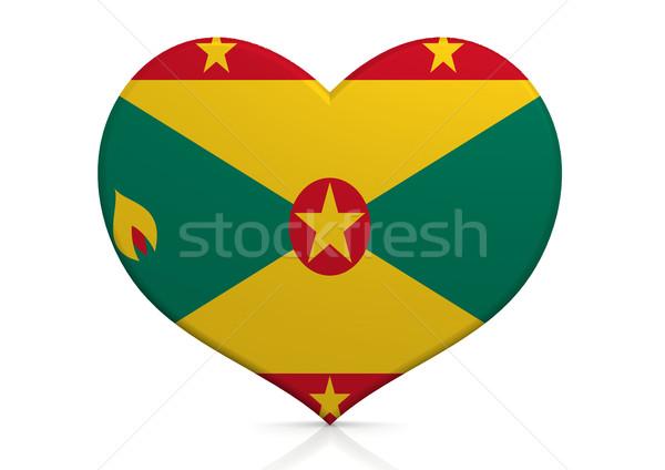 Grenada szív háttér utazás vidék ötlet Stock fotó © tang90246