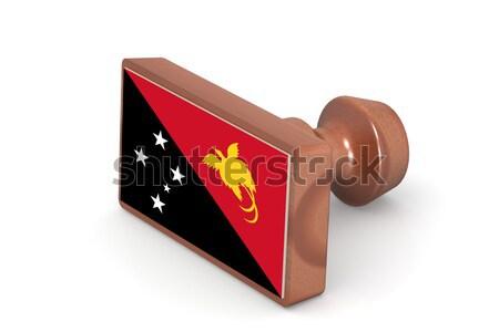 Fából készült bélyeg Grenada zászló kép renderelt Stock fotó © tang90246