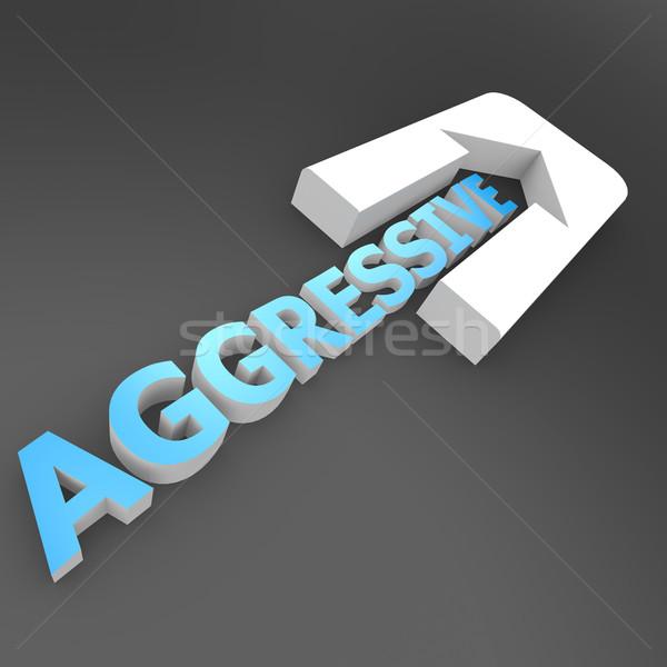агрессивный стрелка бизнеса успех направлении расти Сток-фото © tang90246